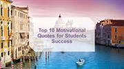 Top 10 Motivitional Quotes for Students Success
