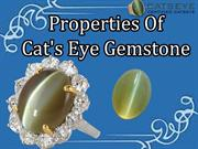 Properties Of Cat's Eye Gemstone