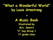 Wonderful World Music Book