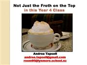 Not just the froth on the top