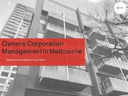 Owners Corporation Management Melbourne