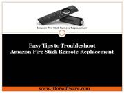 Amazon Fire Stick Remote Replacement