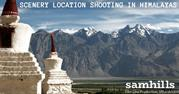 Scenery location shooting in Himalayas