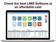 Check the best LIMS Software at an affordable cost