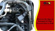 What are the Signs of Damaged AC High-Pressure Hose in Audi