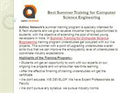 Best Summer Training for Computer Science Engineering