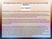 On Target Introduces Stream. A Content Subscription