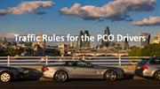 Traffic Rules for the PCO Drivers