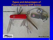 Types and advantages of Front opening OTF knives - Mens Personal Effec