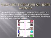 What are the reasons of heart attack