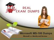 Free Microsoft Exam Questions – New MS-100 dumps