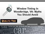 Window Tinting In Woodbridge
