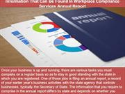 Information That Can Be Found In Workplace Compliance Services Annual