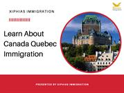 Learn About Canada Quebec Immigration