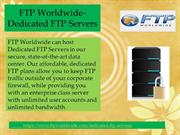 FTP Worlwide-Dedicated FTP Servers