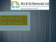 Best Man and Van Removals