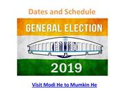 Lok Sabha Elections 2019 Dates