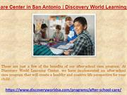 Child Care Center in San Antonio | Discovery World Learning Center