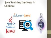 Java Training Institute in Chennai