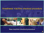 Anesthesia machine checkout procedure