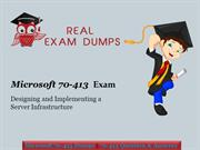Real Exam Dumps | Prepare Microsoft 70-413 Exam- With 70-413 Dumps PDF