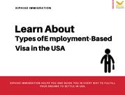 Learn About Types of Employment-Based Visa in the USA