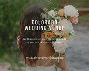 Colorado wedding venue at River crest cabins