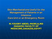 Skin Manifestations inICU the