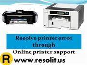 Resolve printer error through online printer support