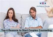 Top 4 Reasons to Start Couples Counseling