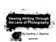 Viewing Writing Through Photography