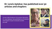 Dr. Lewis Aptekar, Has Published over 50 Articles and Chapters