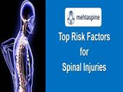 Top Risk Factors for Spinal Injuries