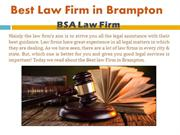 Best Law Firm in Brampton | BSA Law Firm