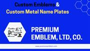 Custom Metal Emblems | Metal Name Plates Suppliers