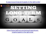 4 ways to put long term goals in the right order