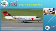 Avail 24x7 Hours Best ICU Setup -King Air Ambulance Service in Delhi a