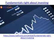 What are fundamentals right about investing