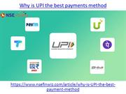 Why is UPI the best payments method
