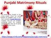 Punjabi Matrimony – Ritual & Traditions