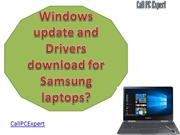 Windows update and Drivers download for Samsung laptops