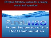 Effective filtration system for drinking water and aquarium