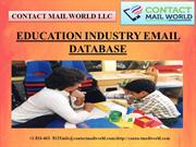 EDUCATION INDUSTRY EMAIL DATABASE