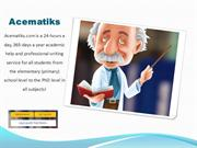 Academic Essay Writing & Assignment Writing Service UK- Acematiks