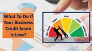 What to do if your Business Credit Score is low