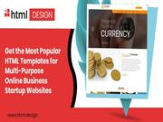 Get the Most Popular HTML Templates for Multi-Purpose Online Business
