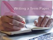 Term Paper Writing Guide