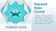 Tajweed Rules Course