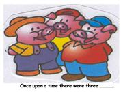 The three pigs and the wolf