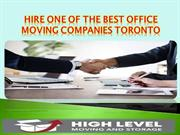Hire one of the best Office Moving Companies Toronto